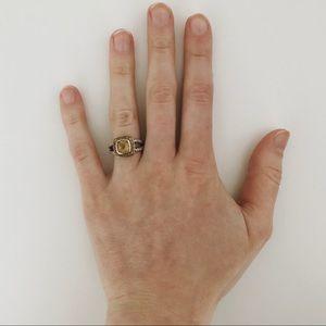 9c6317f0d7035 David Yurman | Citrine & Sapphire Cable Candy Ring